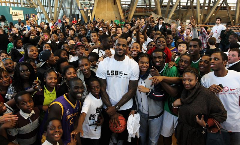 LeBron James at a Nike event