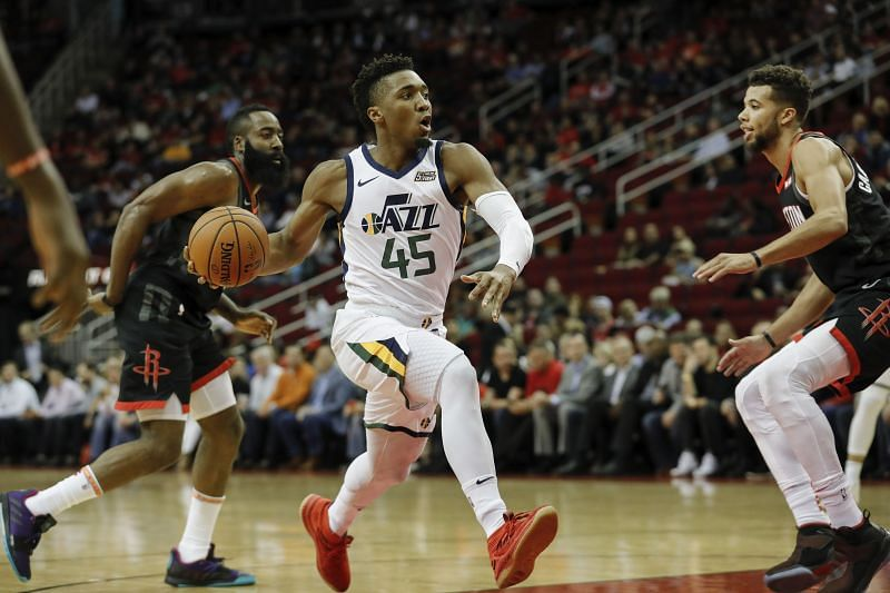 Donovan Mitchell in action for the Utah Jazz