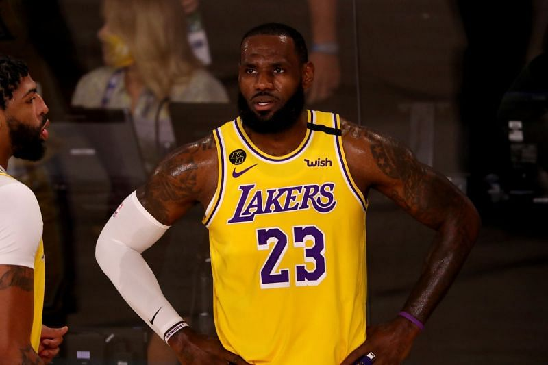 LeBron James in LA Lakers uniform