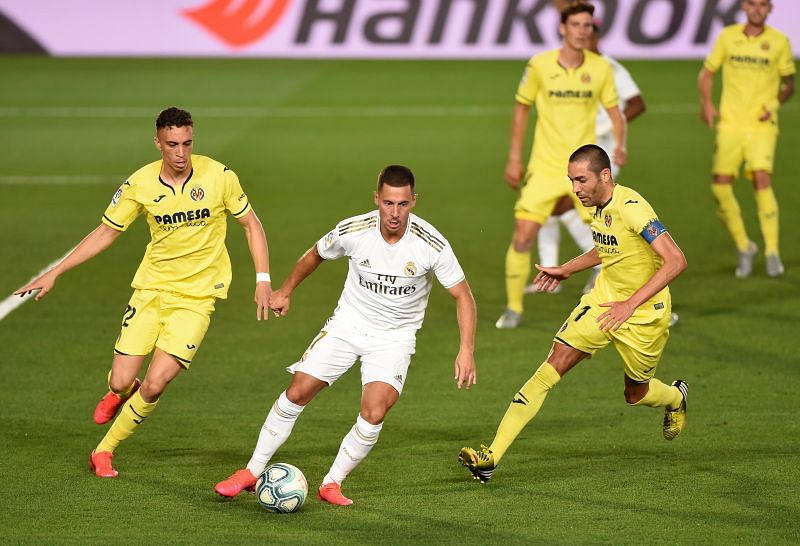 Eden Hazard in action for Real Madrid