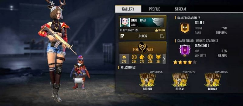 LOUD Babi's Free Fire ID, stats, K/D ratio and more