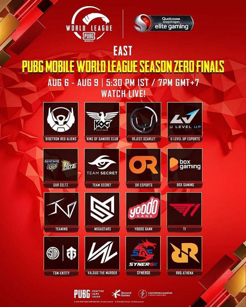 PMWL 2020 East finals schedule