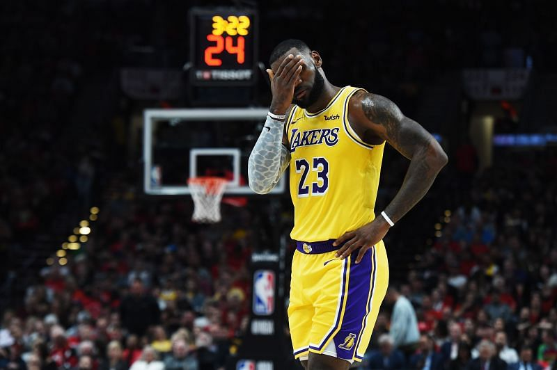 The LA Lakers struggled to keep up with the Toronto Raptors