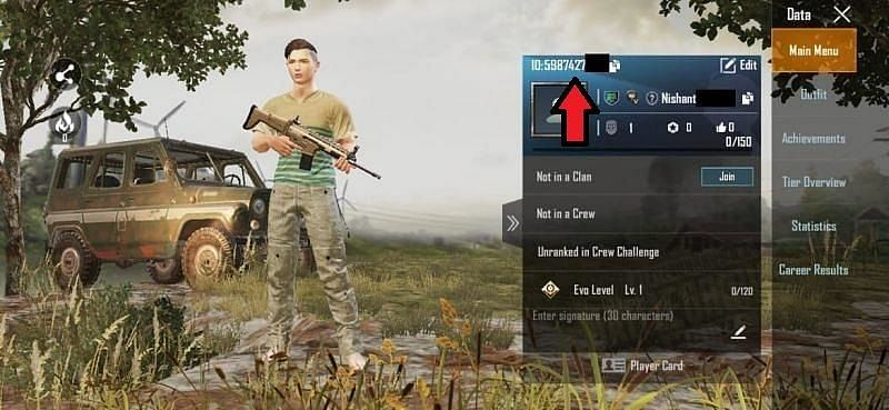 How to find PUBG Mobile ID