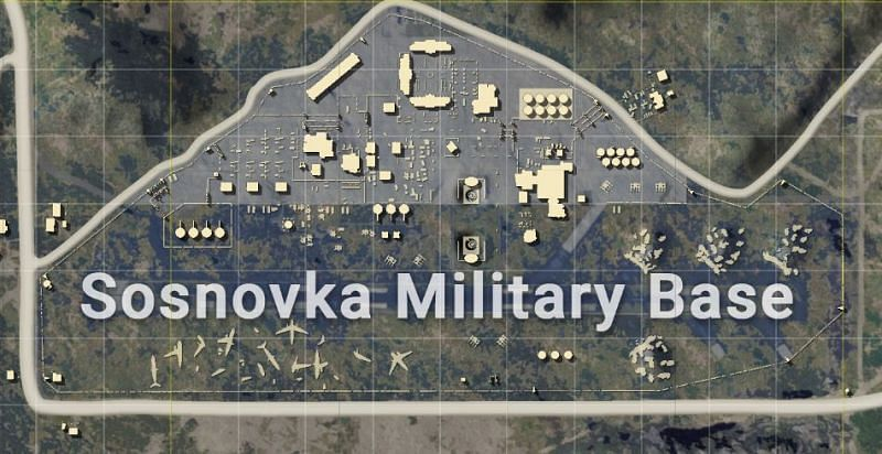 Military base in PUBG Mobile (Image Credits: Zilliongamer)