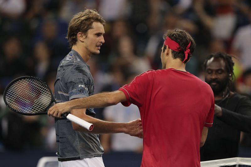 Alexander Zverev after defeating Roger Federer