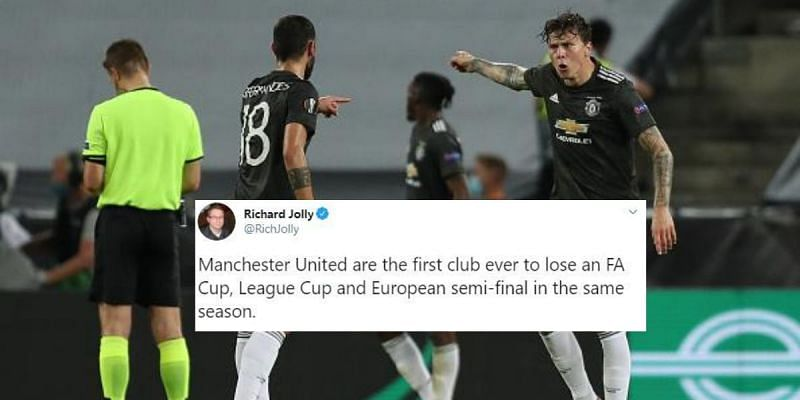 Manchester United were beaten by Sevilla in the semifinals