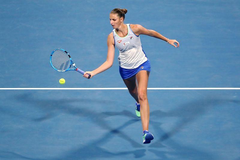 Karolina Pliskova at the Qatar Total Open 2020
