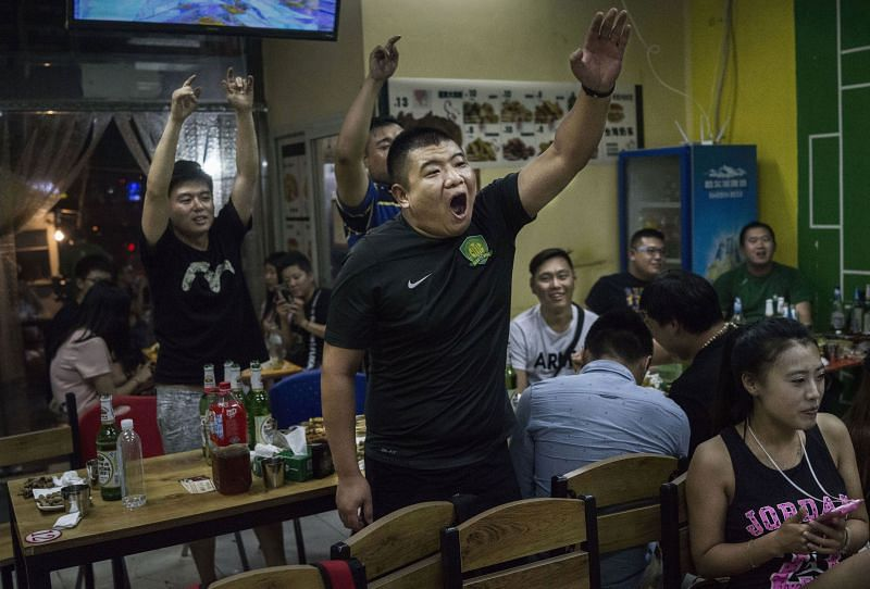 The footballing culture in China is growing