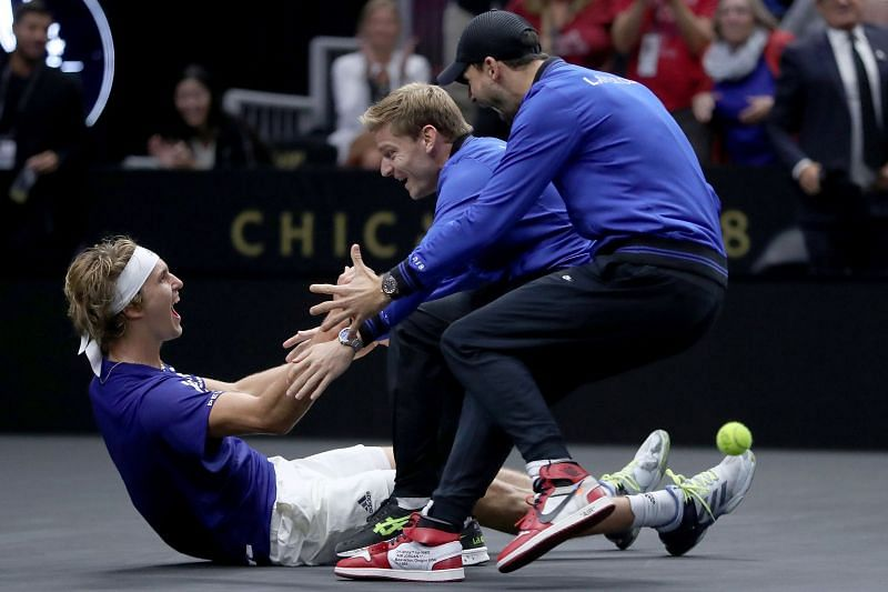 Alexander Zverev beat Kevin Anderson to seal the 2018 Laver Cup for Team Europe