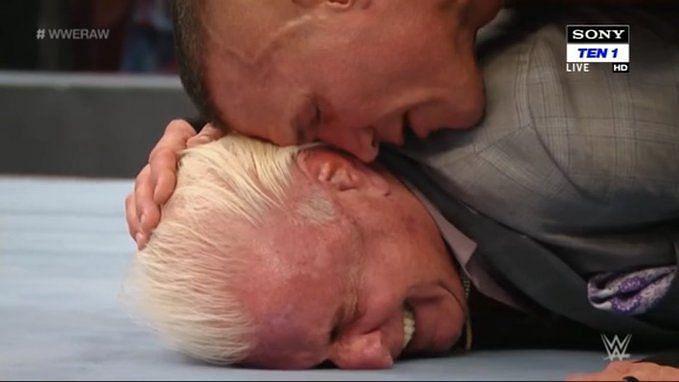Ric Flair and Randy Orton had an emotional final segment