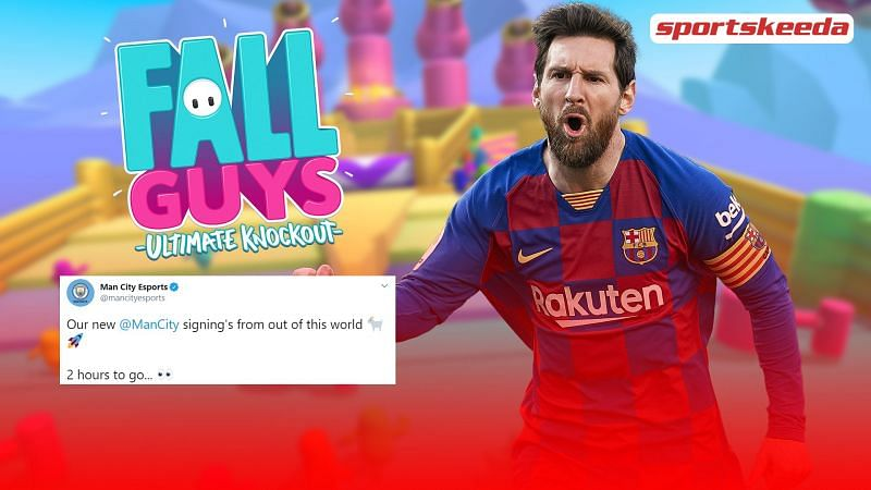 Fall Guys: Manchester City teased the signing of Messi on their official Esports account.