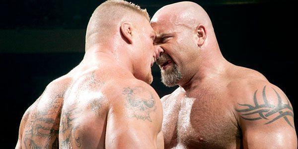 WWE दिग्गज ब्रॉक लैसनर और बिल गोल्डबर्ग