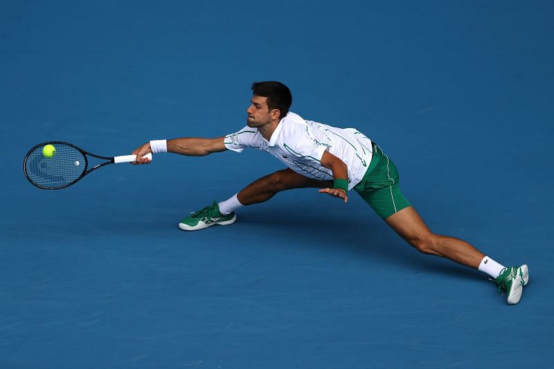 Novak Djokovic is known for his stretchy, impregnable defense