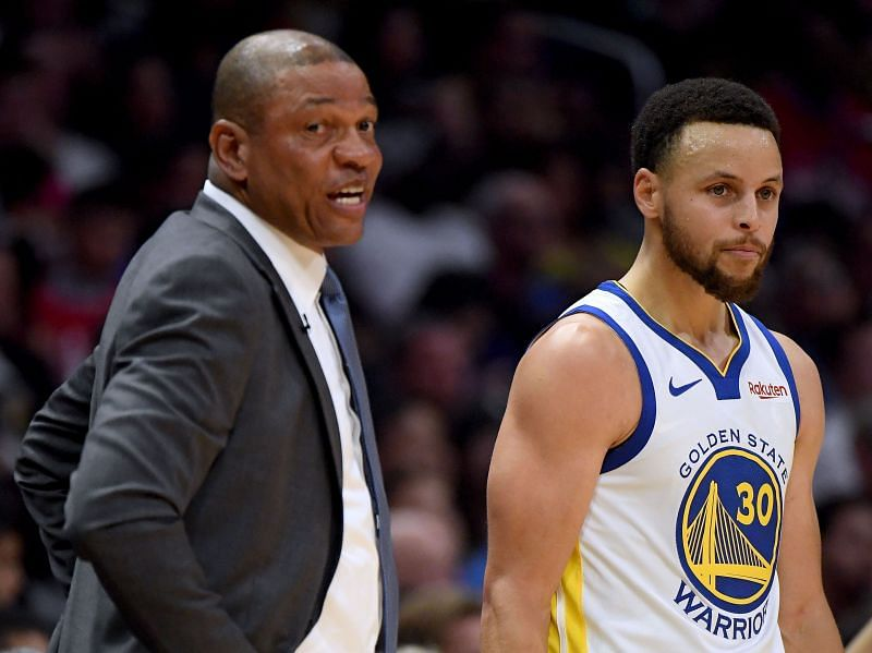 Steph Curry and Doc Rivers