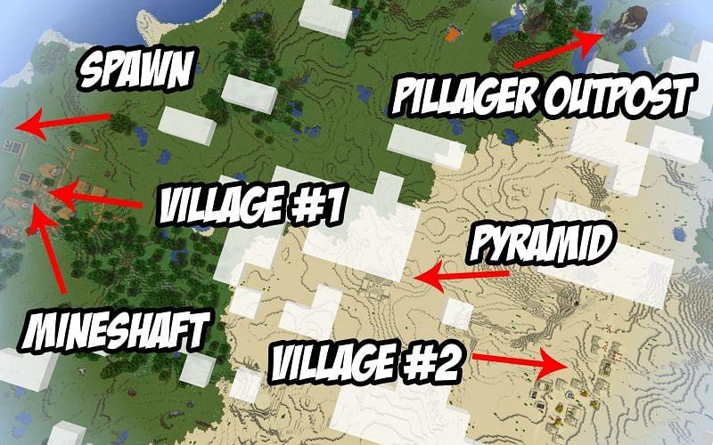 Map of Spawn (Image credits: MinecraftSeedHQ)