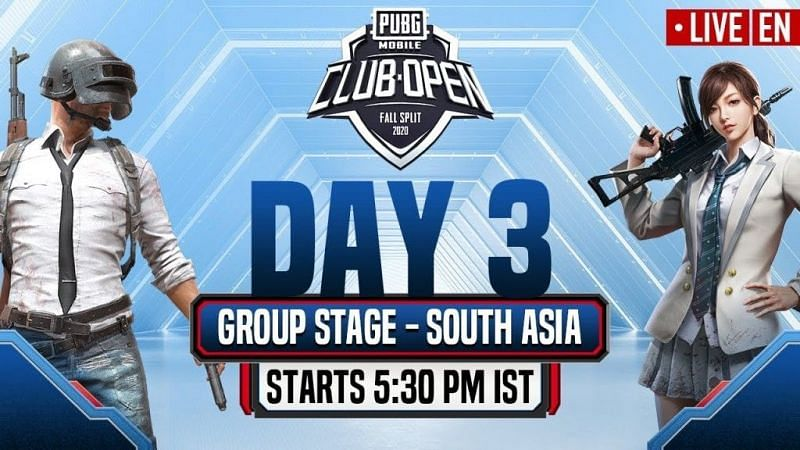 PMCO South Asia Group Stage Day 3 Schedule