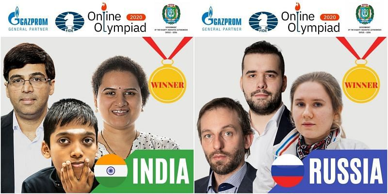 India and Russia are the joint-winners of the Online Chess Olympiad (Image Credit: International Chess Federation / Twiiter)