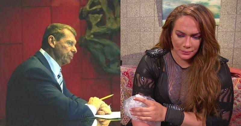 Vince McMahon and Nia Jax.