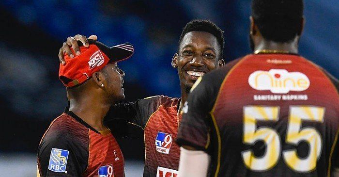 Khary Pierre (C) was the Man of the Match in the previous CPL game