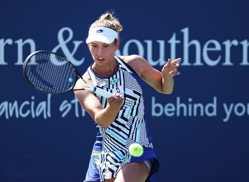 Elise Mertens at the 2020 Western & Southern Open