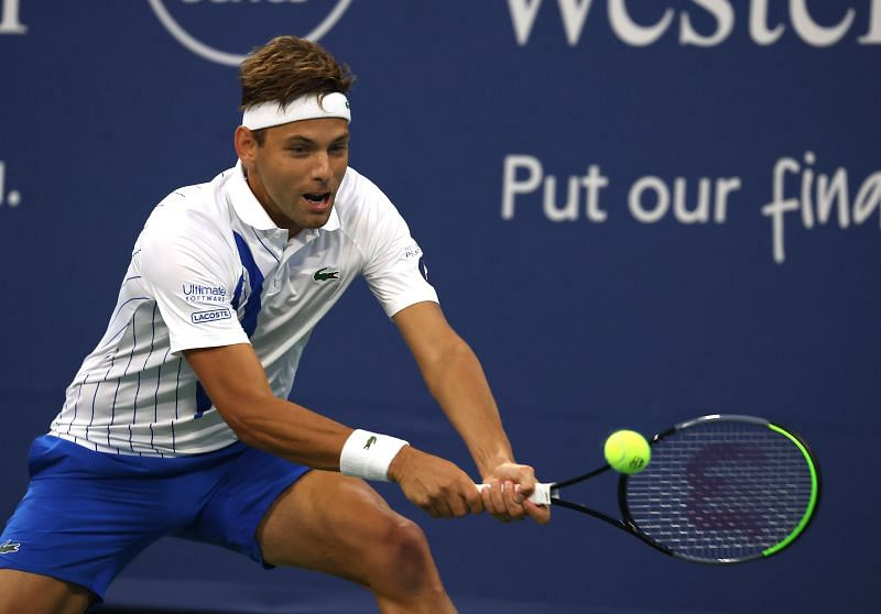 Filip Krajinovic plays Mikael Ymer in the First Round of the US Open