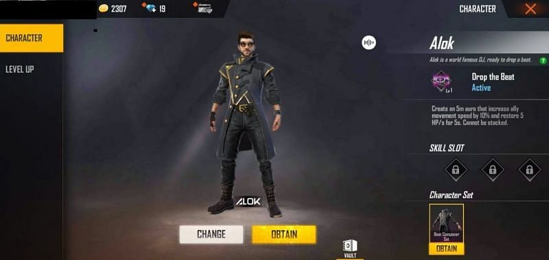 Free Fire character DJ Alok: Abilities, character set and more