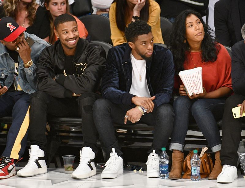 Chadwick Boseman in attendance at the 2018 All-Star game