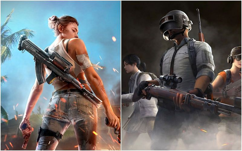 PUBG Mobile vs Free Fire: Top differences (Image Credits: ff.garena.com and wallpaperflare.com)