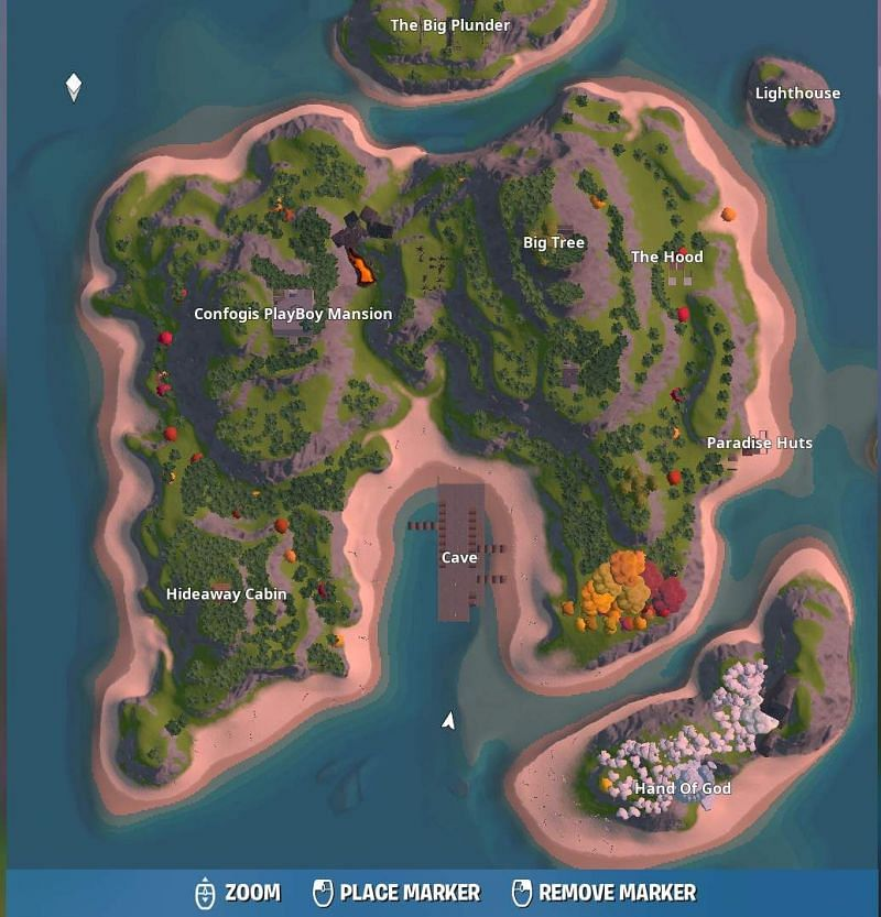 mini battle royale fortnite map