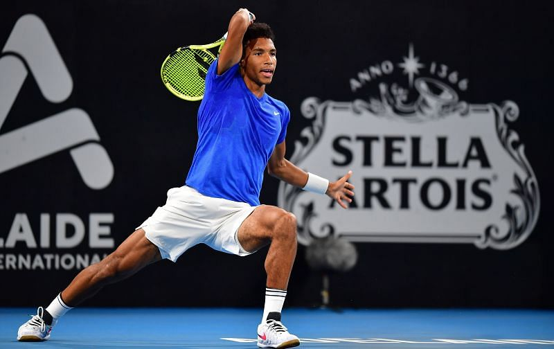 Felix Auger-Aliassime at the 2020 Adelaide International