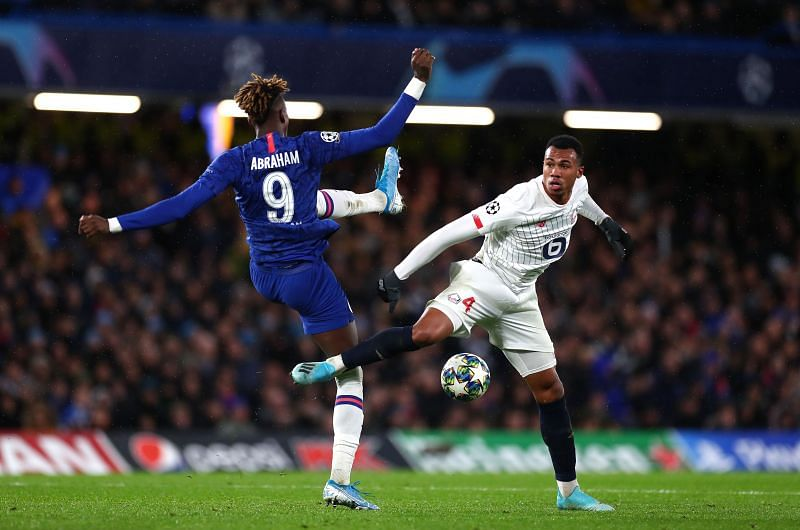 Gabriel Magalhaes featured against Chelsea in the Champions League this season