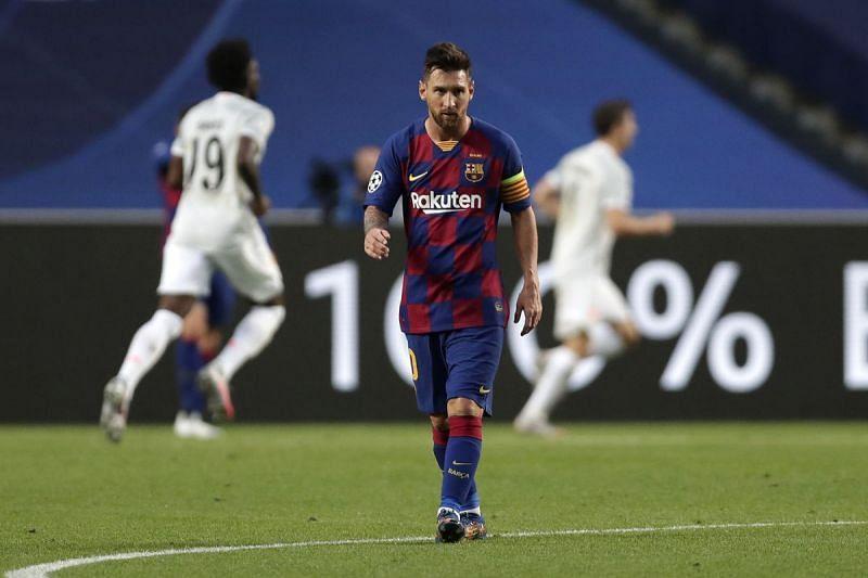 Lionel Messi during Barcelona