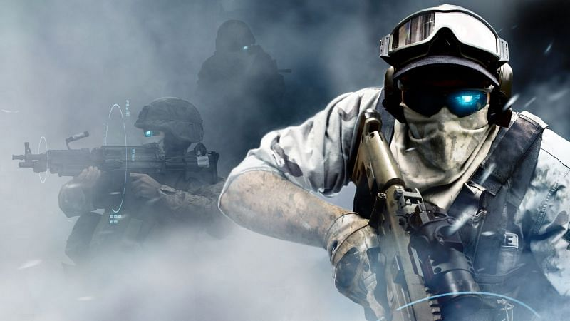 First-person shooter games, (Image via Hipwallpaper)