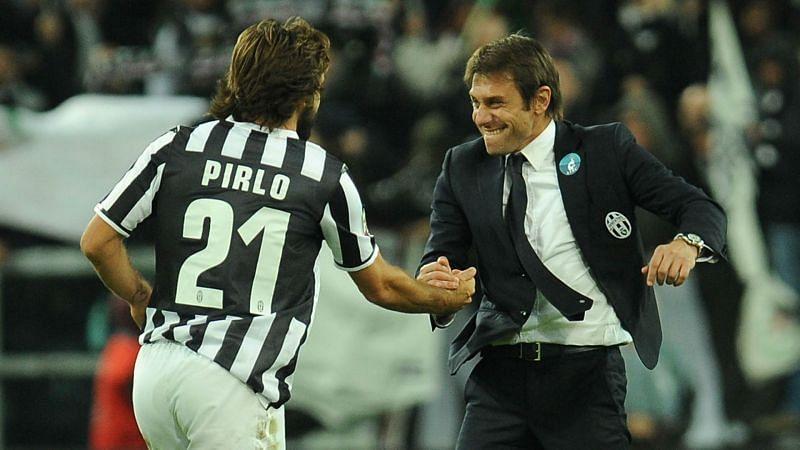 Andrea Pirlo and Antonio Conte - cropped