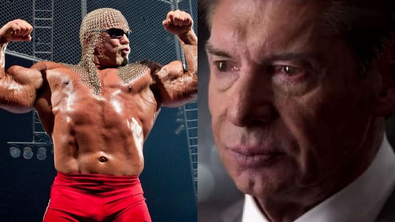 Scott Steiner (left); Vince McMahon (right)