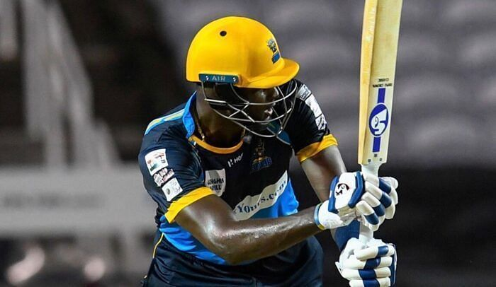 Jason Holder promoted himself up the order in the last CPL match