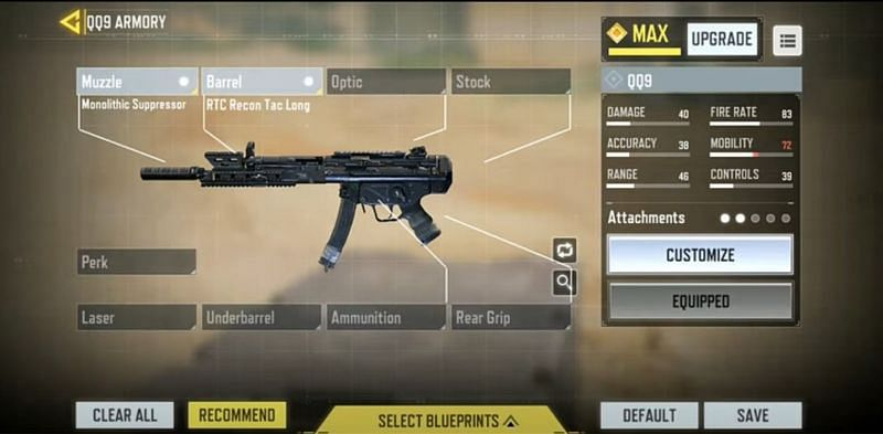 Gunsmith in COD Mobile (Picture Courtesy: AnonymousYT / YouTube)