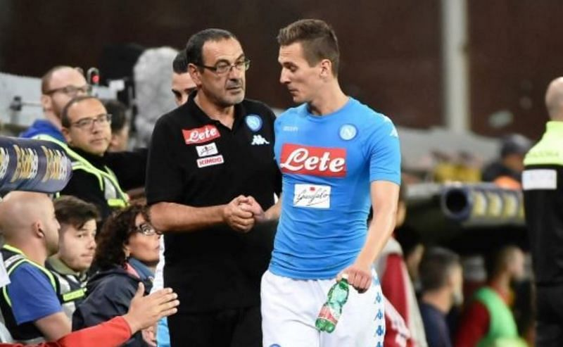 A move to Juventus would reunite Milik with former Napoli boss Sarri