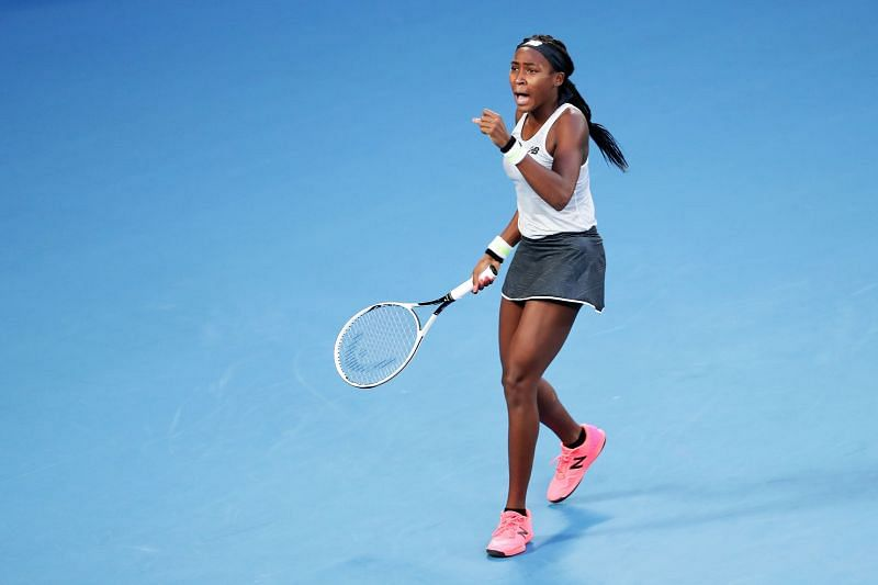 Coco Gauff scored a strong win against compatriot Catherine Dolehide in the opening round.