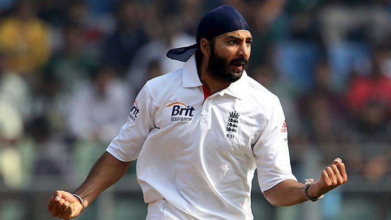 Monty Panesar in action for England