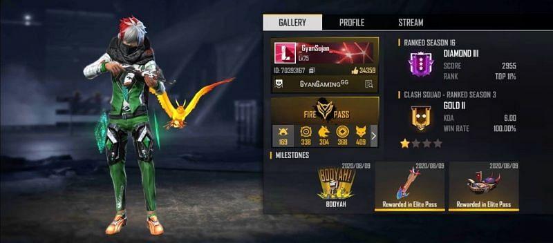 Gyan Gaming's Free Fire ID