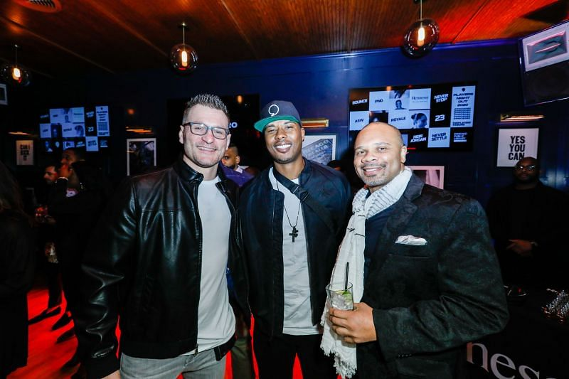 Stipe Miocic (extreme left) At The Royale Party At Bounce Sporting Club In Chicago