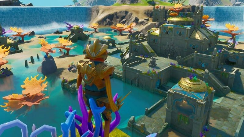 First look at the new Coral Castle POI in Fortnite (Image Credts:Spider-Mandalore on YT)