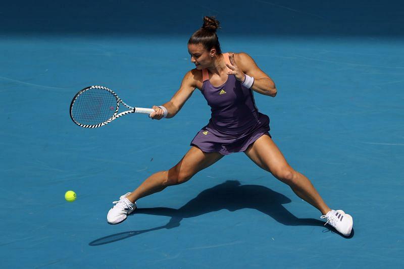 Maria Sakkari beat Yulia Putintseva in the second round