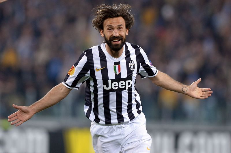 New Juventus manager Andrea Pirlo in action for the Bianconeri