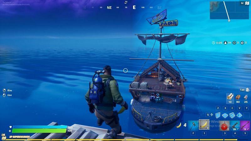 Pawntoon Secret Ship Location in Fortnite Season 3