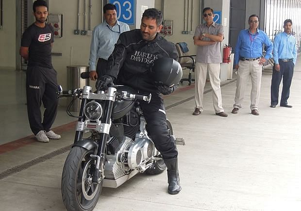 MS Dhoni is known to have a craze for riding bikes and driving other vehicles
