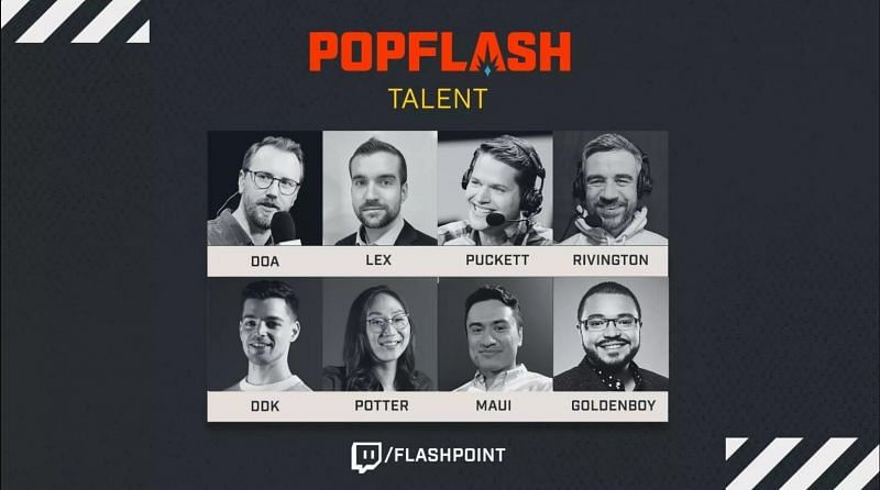 The casters for the Pop Flash Invitational (Image Credits: Flashpoint)