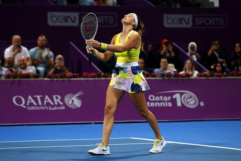Aryna Sabalenka at the Qatar Total Open 2020